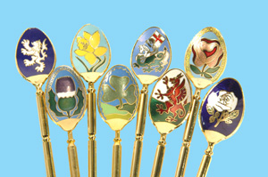National Emblem & Butterfy Spoons